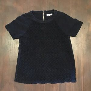 Madewell Black Lace Top